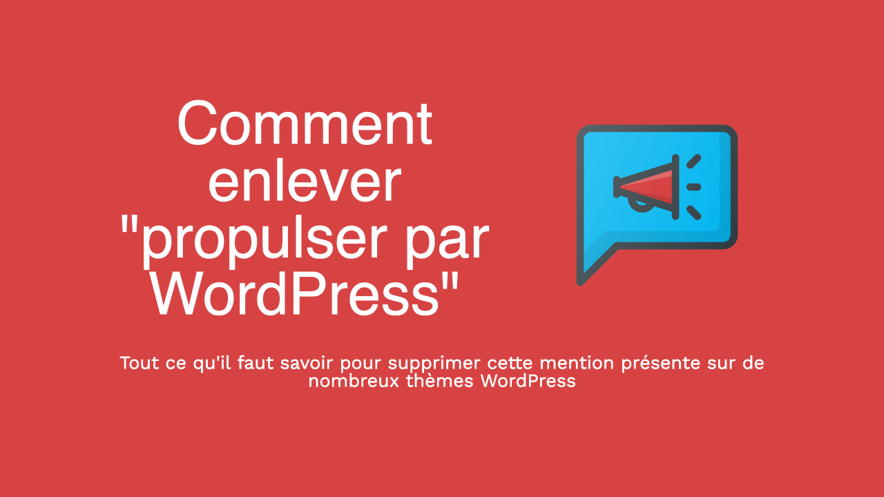 Supprimer propulser par WordPress