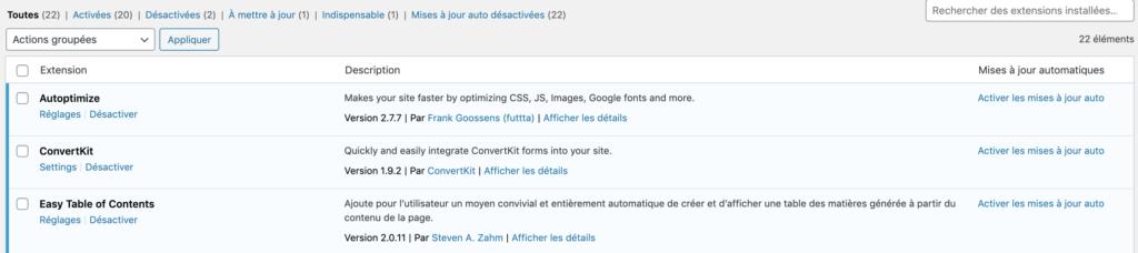 Mise a jour automatique WordPress