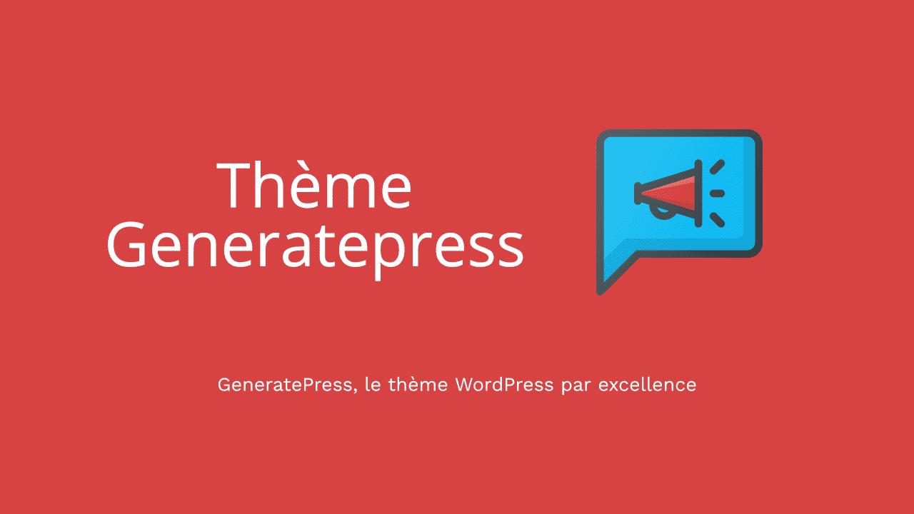 Thème GeneratePress